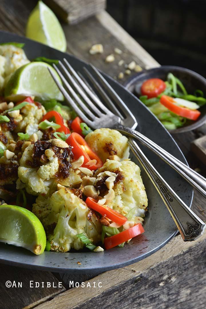 Gluten Free Pad Thai Cauliflower Side Dish Front View