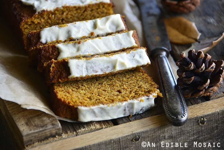 Close Up Slices of Gluten Free Pumpkin Bread Recipe