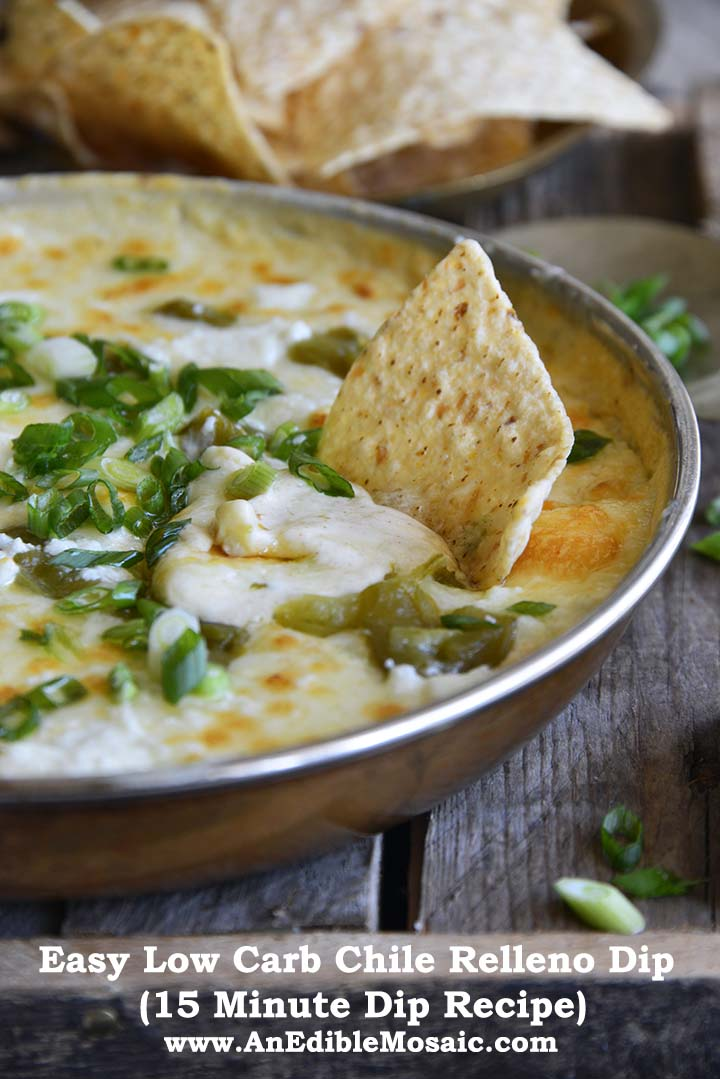 Easy Low Carb Chile Relleno Dip (15 Minute Dip Recipe) with Description
