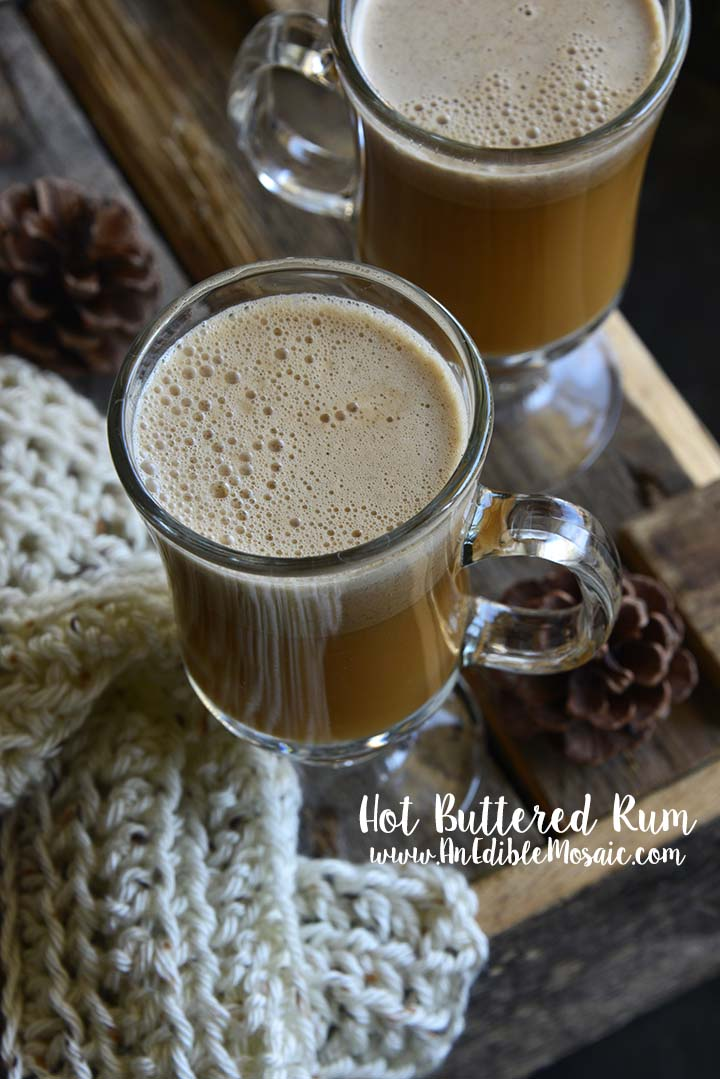 Hot Buttered Rum with Description