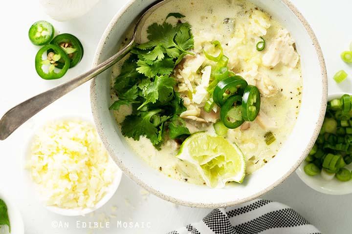 Keto Creamy White Chicken Chili Recipe