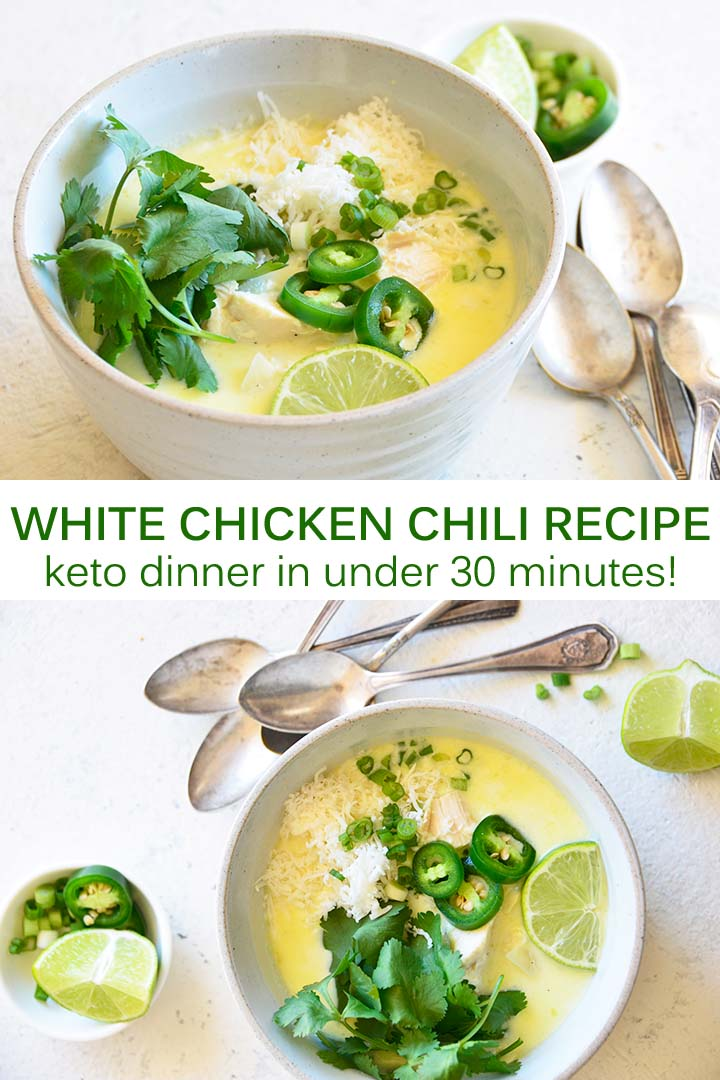 White Chicken Chili Recipe Pin