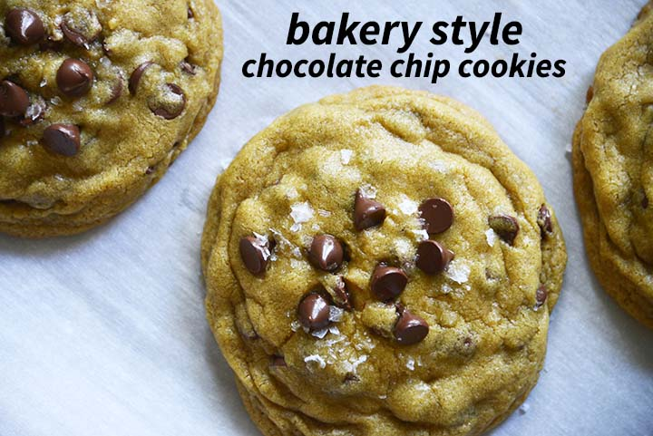 Bakery Style Chocolate Chip Cookies with Description
