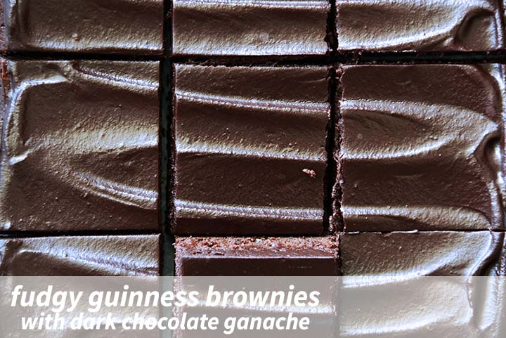 Fudgy Guinness Brownies with Description