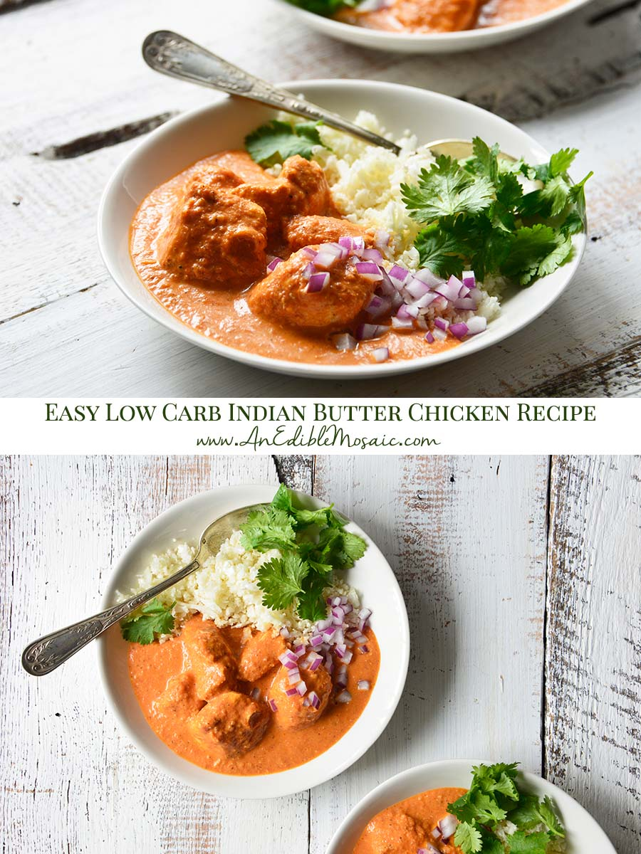Easy Low Carb Indian Butter Chicken Recipe Pinnable Image