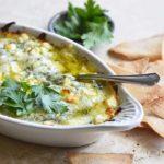 Keto Spanakopita Dip in White Gratin Dish
