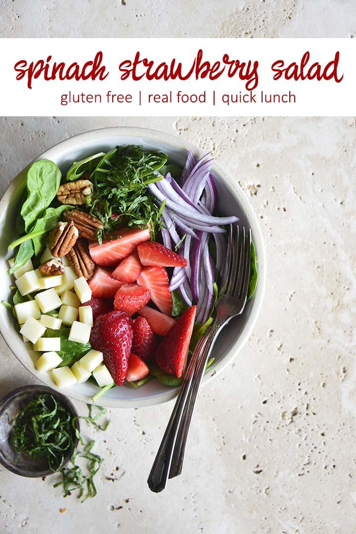 Spinach Strawberry Salad Recipe Pin