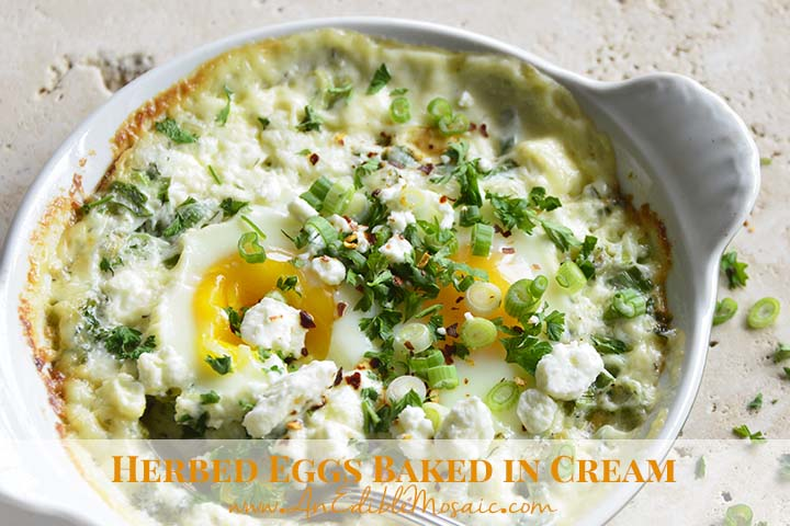 Baked Eggs with Description