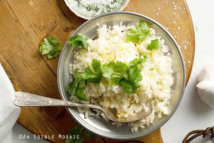 Dish of Cauliflower Rice