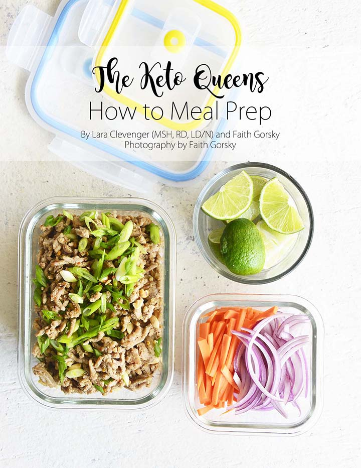 How to Meal Prep Ebook Cover with Tons of Healthy Meal Prep Ideas for the Week