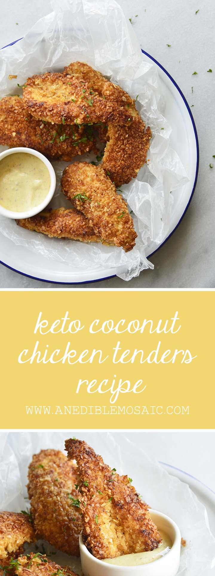 Keto Coconut Chicken Tenders Recipe Pin