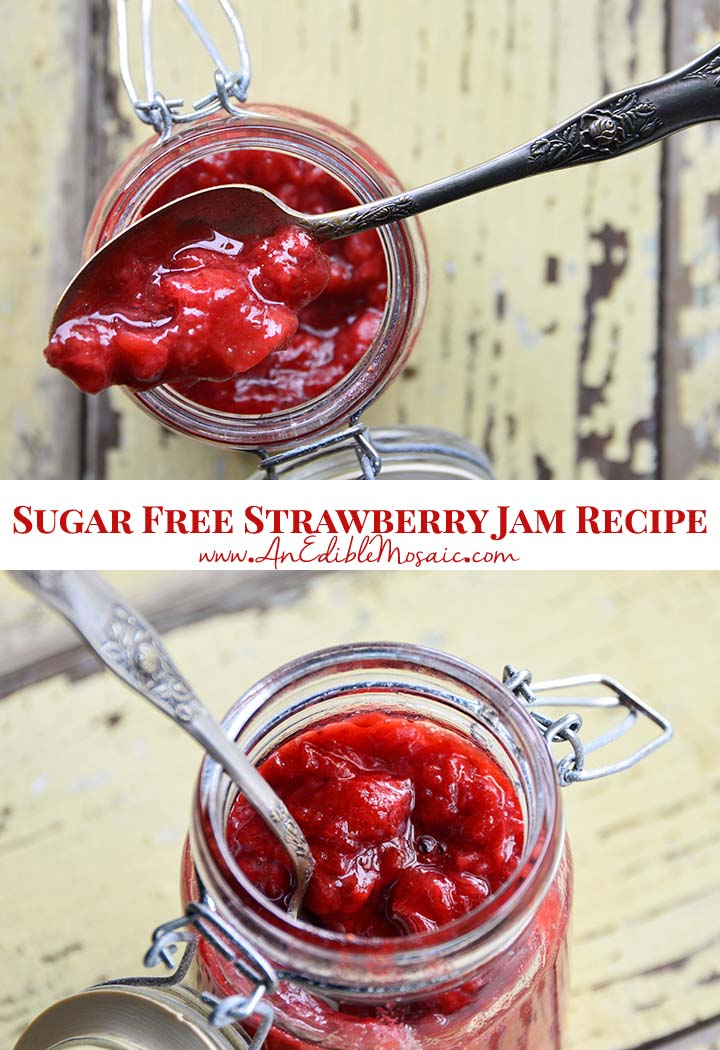 Sugar Free Strawberry Jam Recipe Pin
