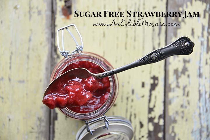 Sugar Free Strawberry Jam with Description