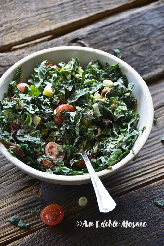 Tossed Chopped Kale Salad