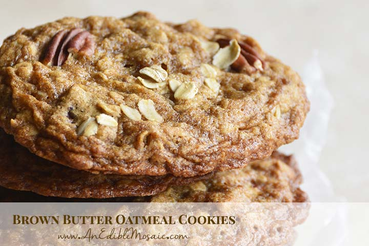 Brown Butter Oatmeal Cookies with Description