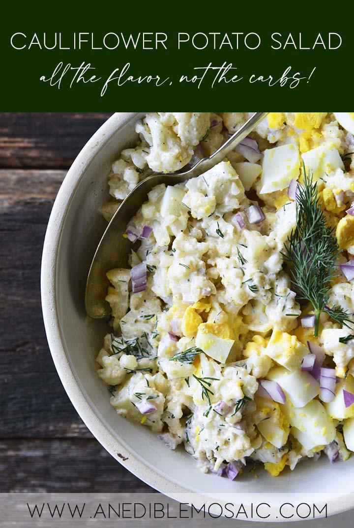 Cauliflower Potato Salad Recipe Pin