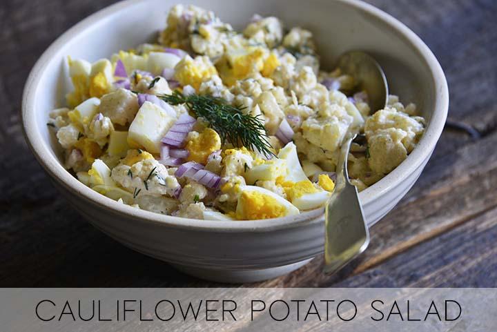 Low Carb Potato Salad with Description