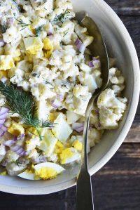 cauliflower potato salad featured image