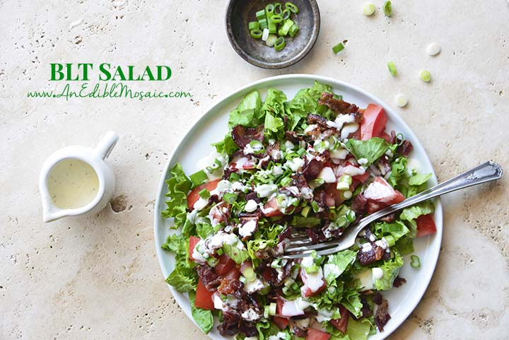 BLT Salad with Description