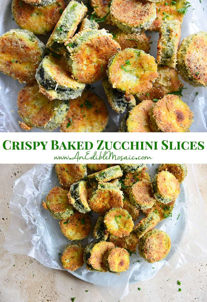 Crispy Baked Zucchini Slices Pin
