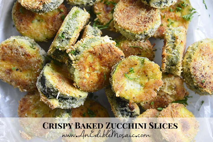 Crispy Baked Zucchini Slices with Description