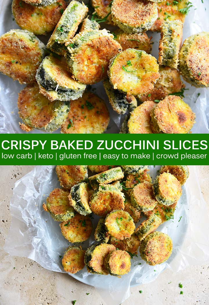 Keto Crispy Baked Zucchini Pin