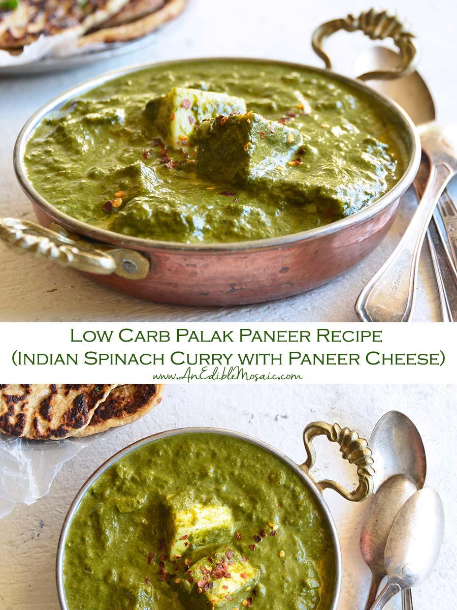 Low Carb Palak Paneer Recipe Pin