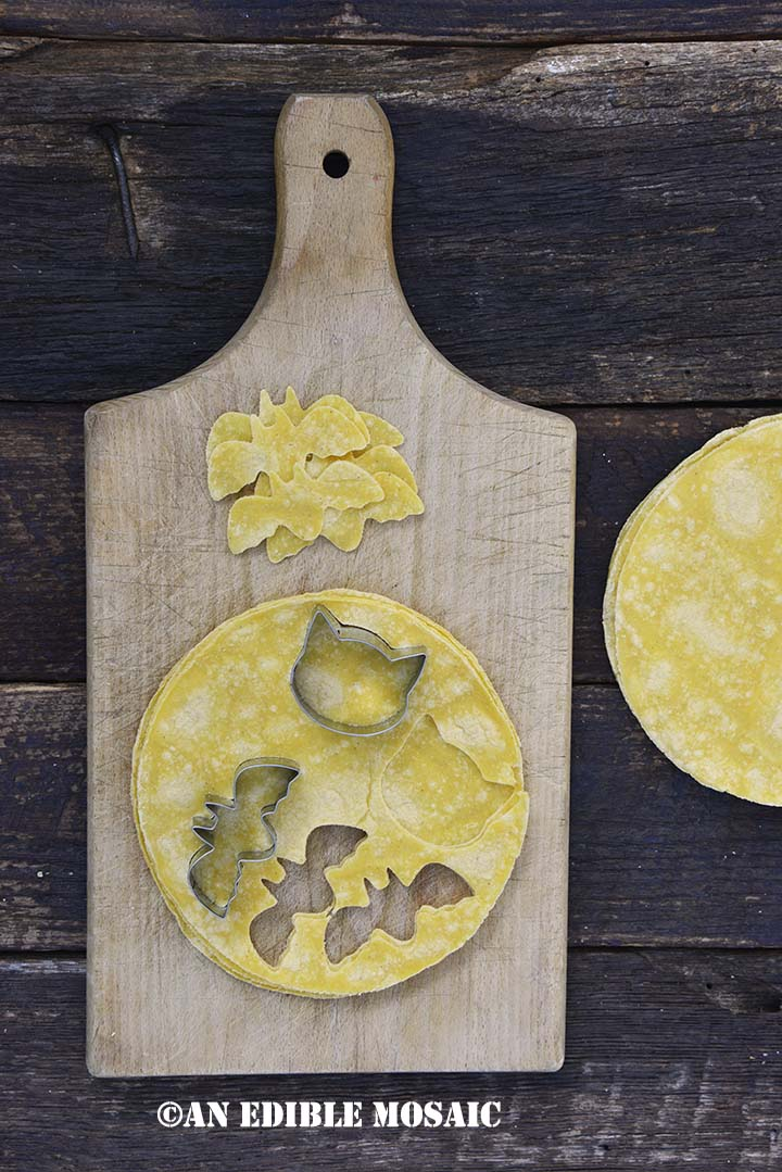Cut Out Festive Shapes in Corn Tortillas