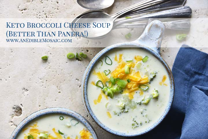 Keto Broccoli Cheese Soup Better Than Panera with Description