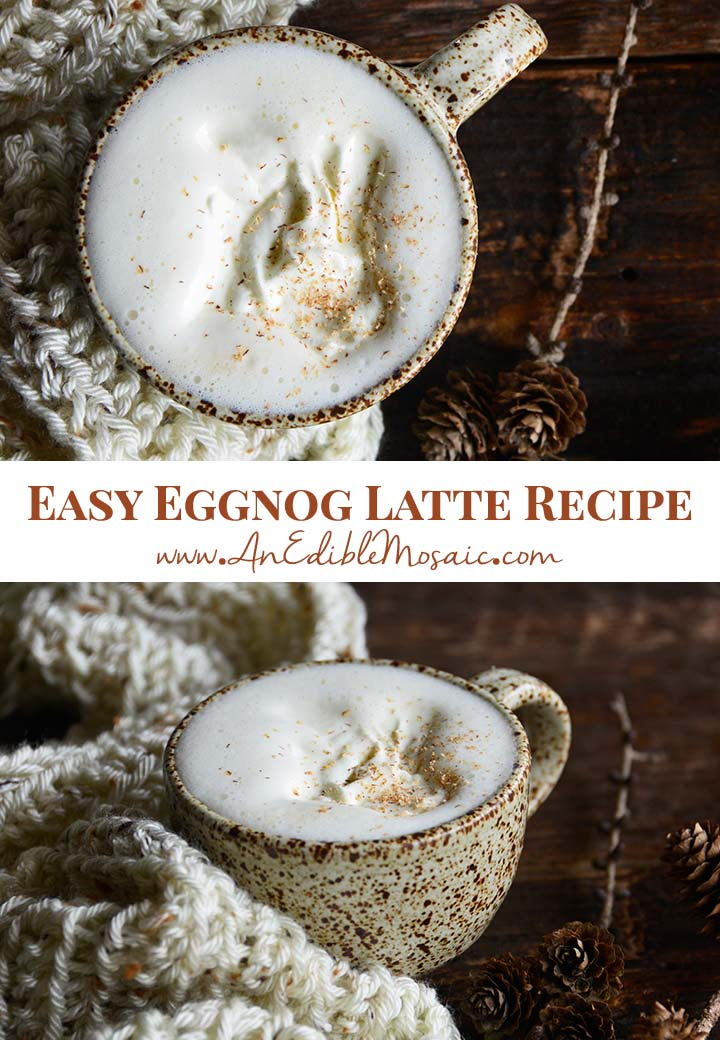 Easy Eggnog Latte Recipe Pin