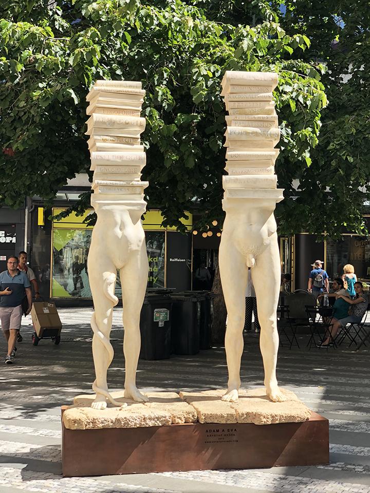 Adam and Eva Statue Prague