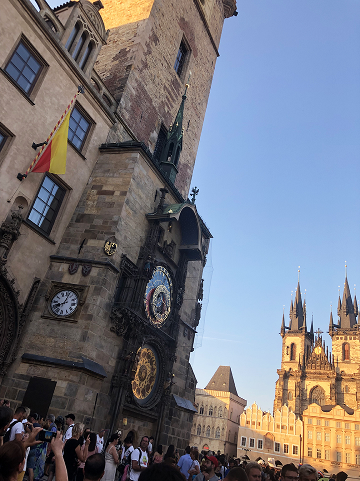 Astronomical Clock with Tyn Church in Background