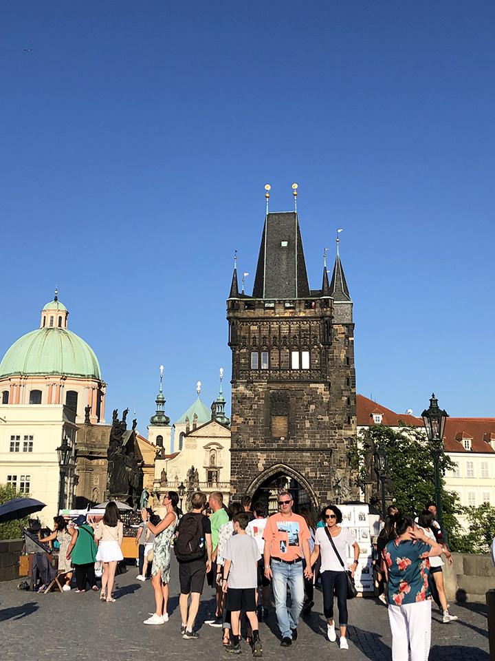 Charles Bridge Facing Old Town Prague