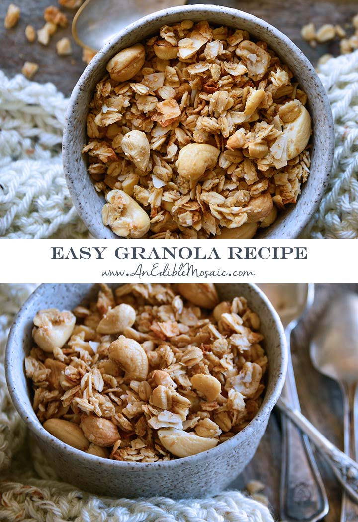 Easy Granola Recipe Pin