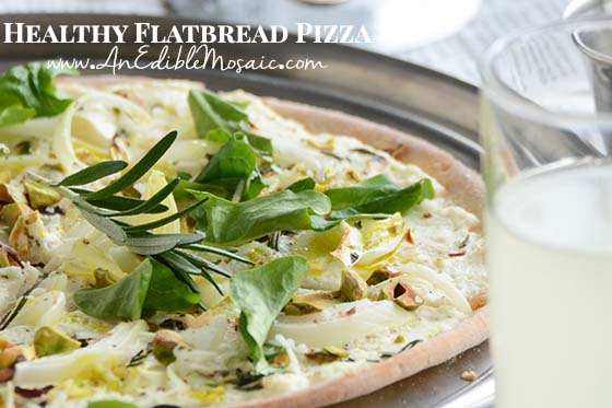 Healthy Flatbread Pizza with Description