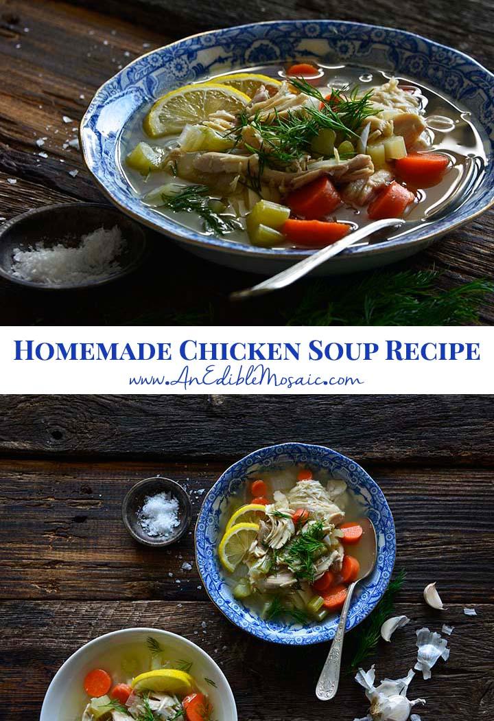 Homemade Chicken Soup Recipe Pin