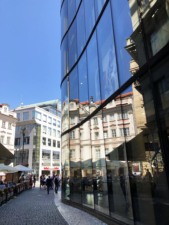 Walking Into New Town Prague