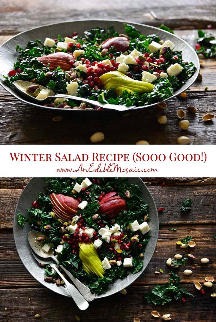 Winter Salad Recipe Pin