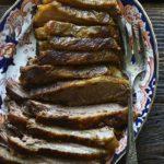 Classic Beef Brisket on Flowered Serving Platter