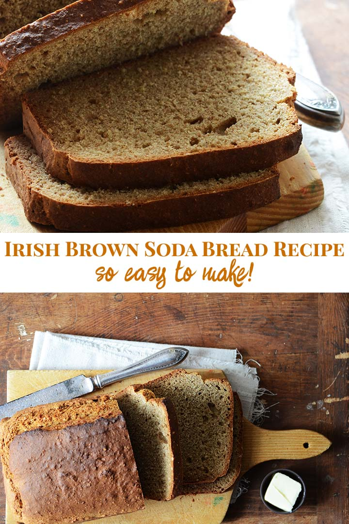 Irish Brown Soda Bread Recipe Pin