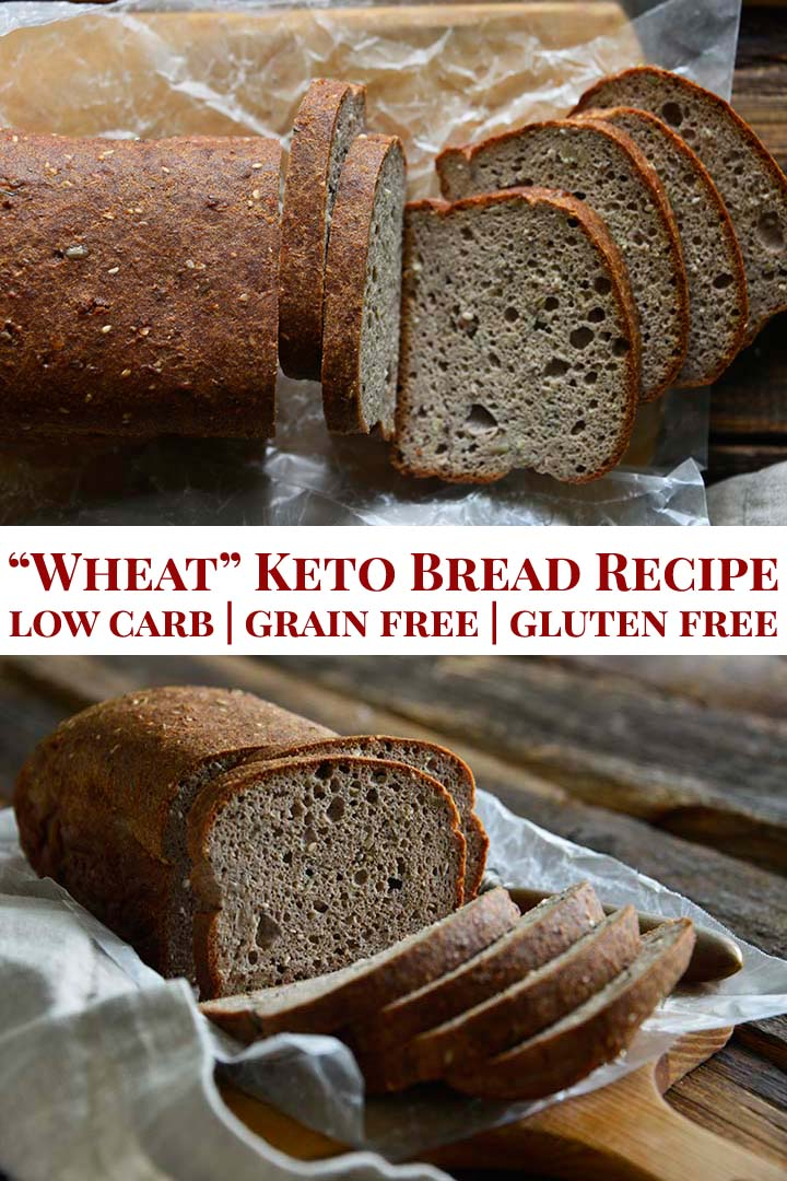 Keto Bread Recipe Low Carb Grain Free Gluten Free Pin