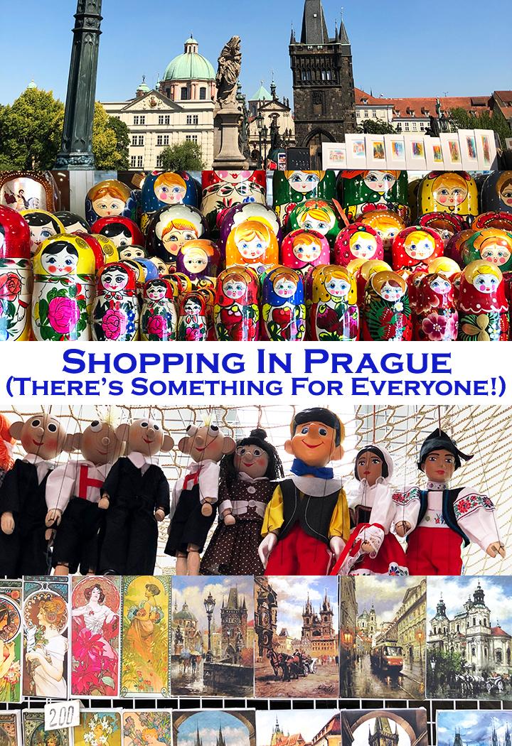 Shopping in Prague Czech Republic Pin