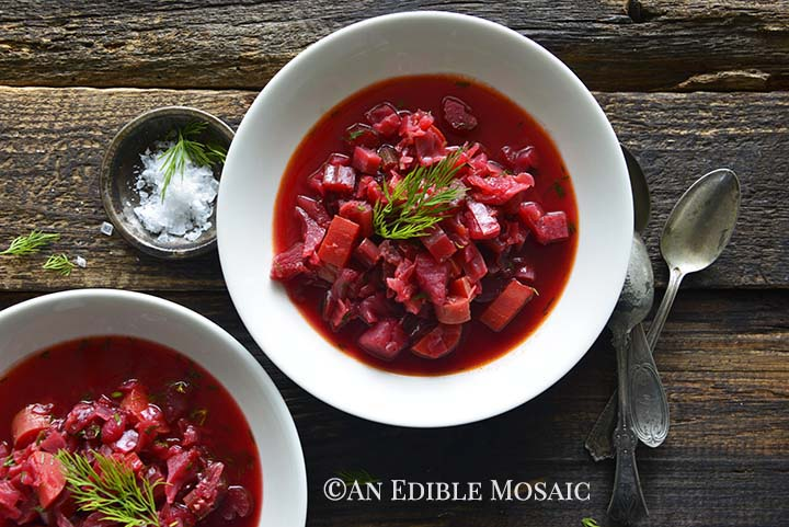 Vegetarian Borscht Recipe An Edible Mosaic