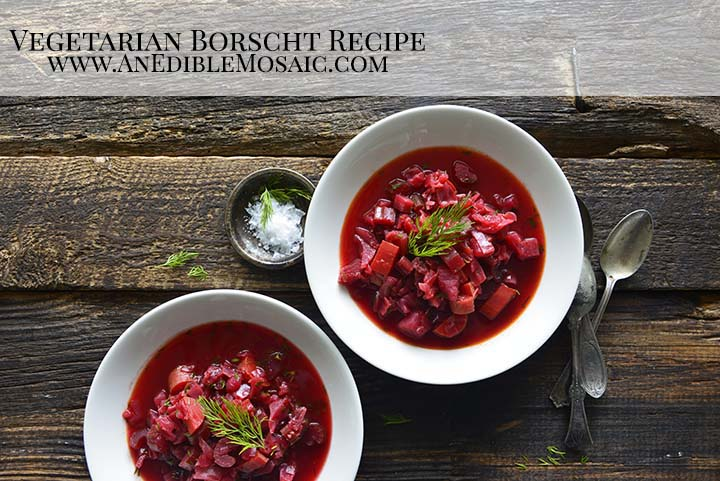 Vegetarian Borscht Recipe with Description