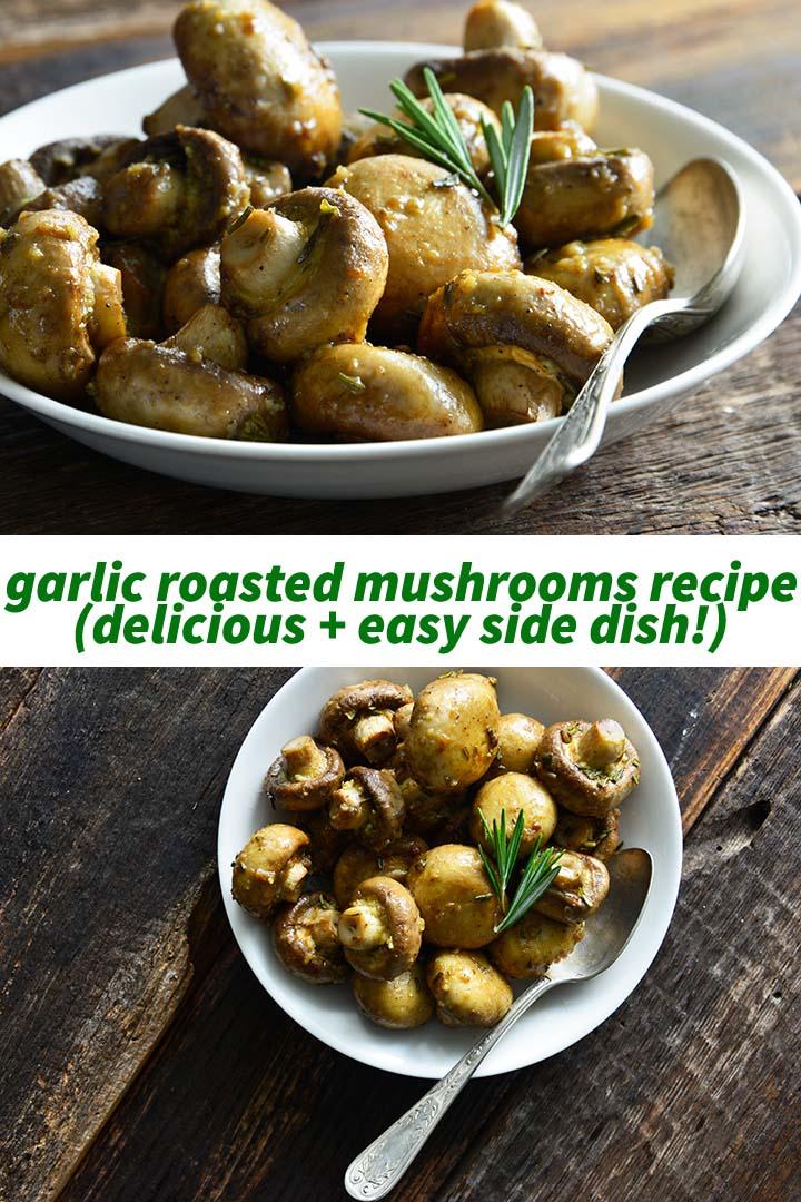 Garlic Roasted Mushrooms Recipe Pin