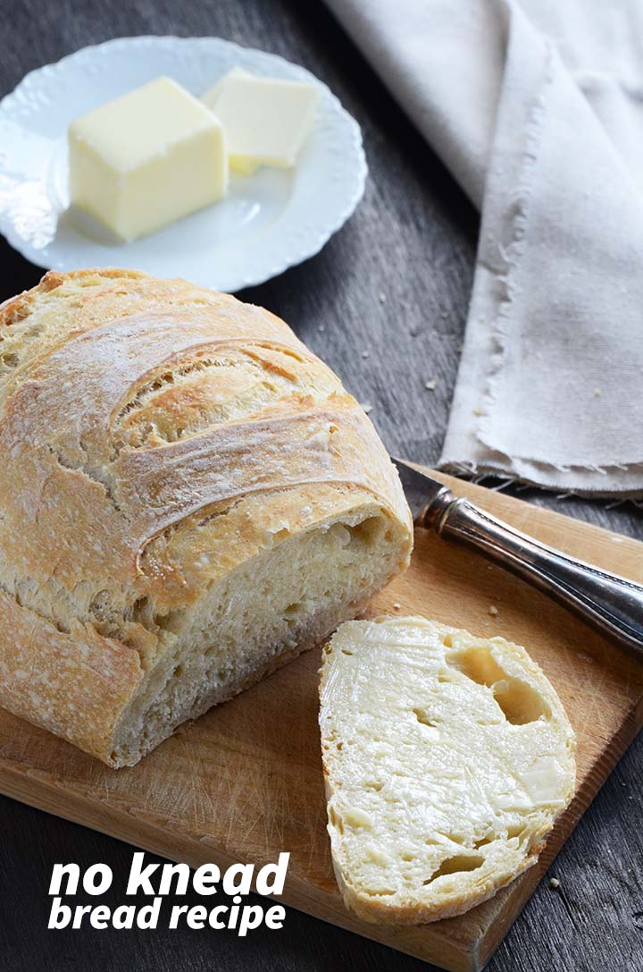 No Knead Bread Recipe Pin