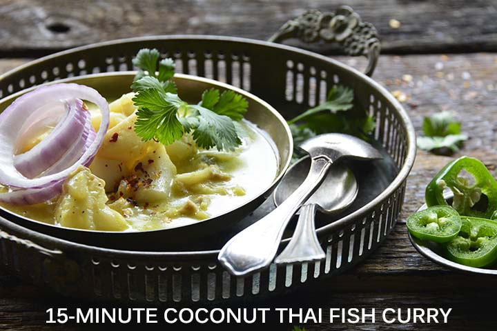 15 Minute Coconut Thai Fish Curry with Description