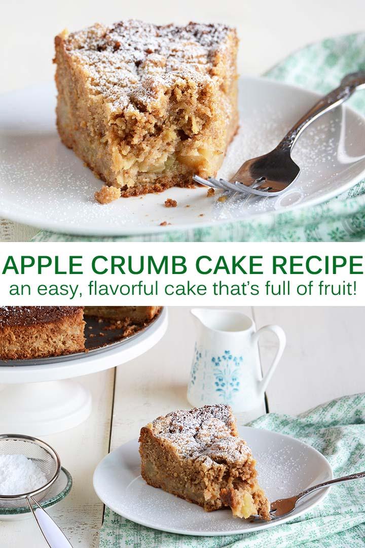 Apple Crumb Cake Recipe Pin