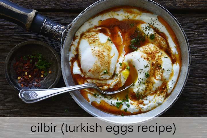 Cilbir (Turkish Eggs Recipe) with Description