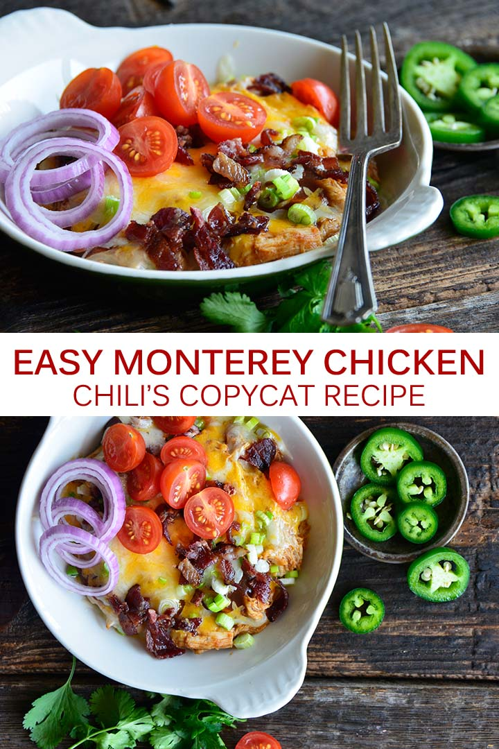 Monterey Chicken Chili's Copycat Recipe Pin